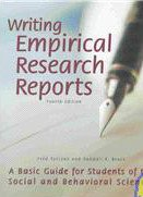 Writing Empirical Research Reports A Basic Guide for Students of the Social and Behavioral Sciences 4th 2003 (Revised) edition cover