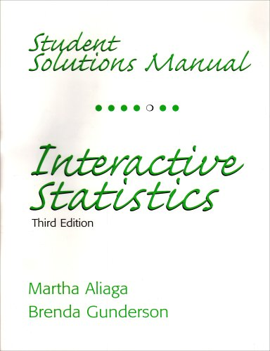 Interactive Statistics  3rd 2006 9780131498372 Front Cover