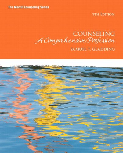 Counseling A Comprehensive Profession 7th 2013 9780133155372 Front Cover