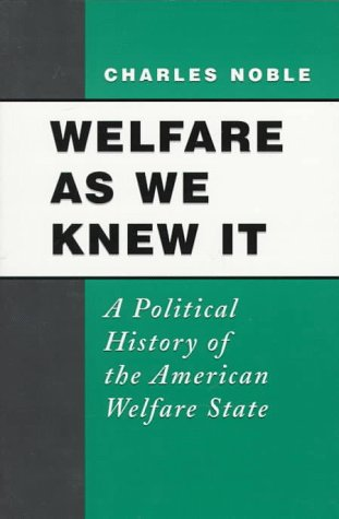 Welfare As We Knew It A Political History of the American Welfare State  1997 edition cover
