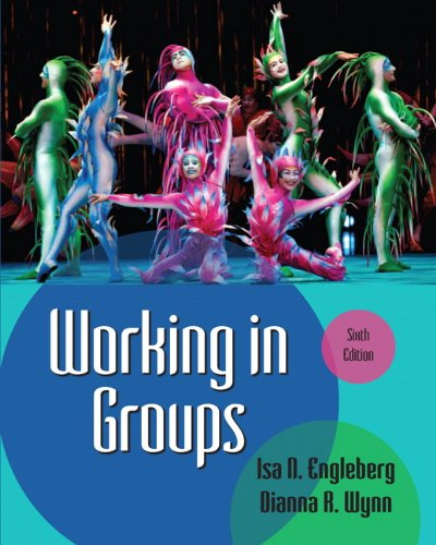 Working in Groups  6th 2013 (Revised) 9780205029372 Front Cover