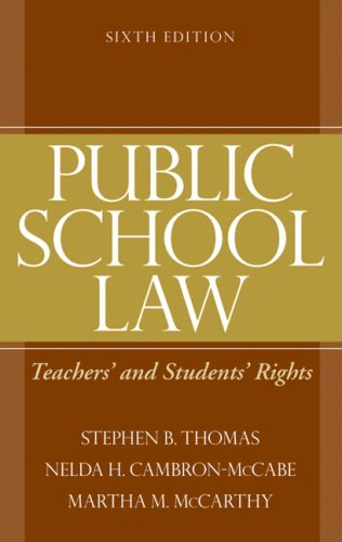 Public School Law Teachers' and Students' Rights 6th 2009 edition cover