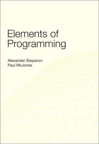 Elements of Programming   2009 edition cover
