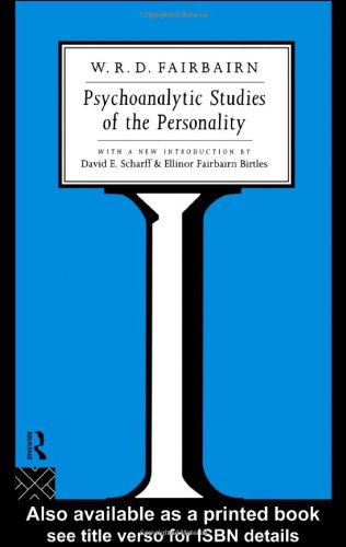 Psychoanalytic Studies of the Personality   1994 edition cover