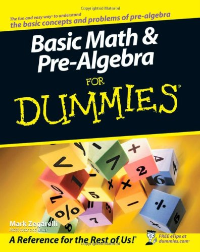 Basic Math and Pre-Algebra for Dummies   2007 edition cover