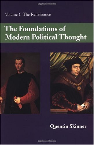Foundations of Modern Political Thought The Renaissance  1978 edition cover