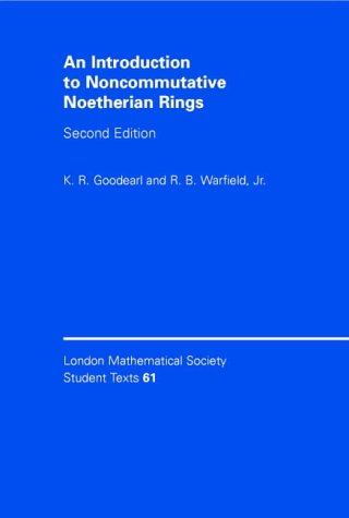 Introduction to Noncommutative Noetherian Rings  2nd 2004 (Revised) 9780521545372 Front Cover