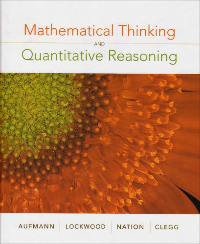 Mathematical Thinking and Quantitative Reasoning   2008 9780618777372 Front Cover
