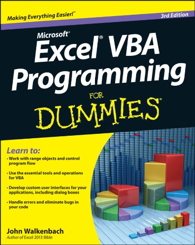 Excel VBA Programming for Dummies�  3rd 2013 edition cover