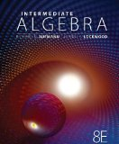 Intermediate Algebra  8th 2013 edition cover