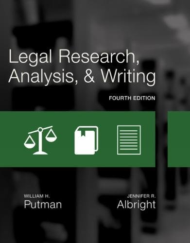 Legal Research, Analysis, and Writing:   2017 9781305948372 Front Cover