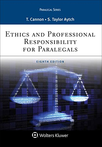 Ethics and Professional Responsibility for Paralegals:  8th 2017 9781454873372 Front Cover