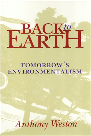 Back to Earth Tomorrow's Environmentalism N/A edition cover