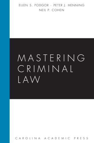 Mastering Criminal Law   2008 edition cover