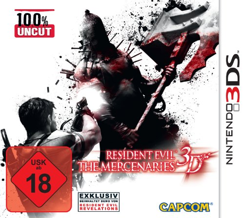 Resident Evil: The Mercenaries 3D Nintendo 3DS artwork