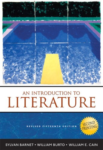 Introduction to Literature Fiction, Poetry, Drama 15th 2008 edition cover