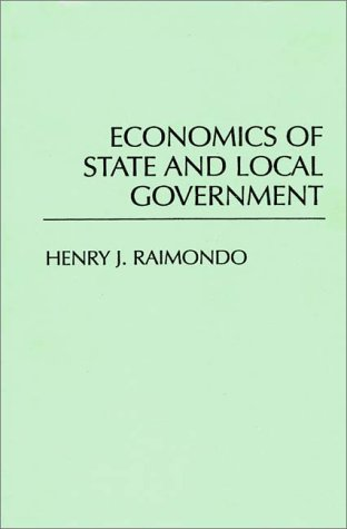 Economics of State and Local Government   1992 edition cover