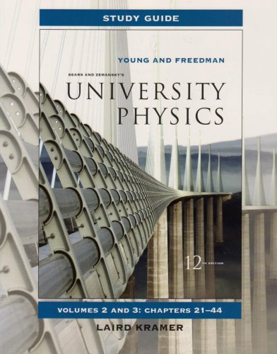 Study Guide for University Physics Vols 2 And 3  12th 2008 edition cover