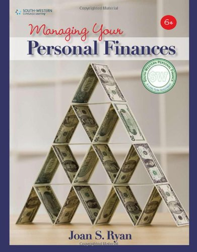 Managing Your Personal Finances  6th 2010 9780538449373 Front Cover