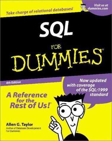 SQL for Dummies  4th 2001 9780764507373 Front Cover