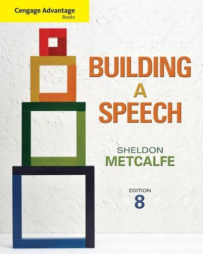 Building a Speech  8th 2013 edition cover