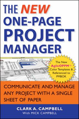 New One-Page Project Manager Communicate and Manage Any Project with a Single Sheet of Paper 2nd 2013 edition cover