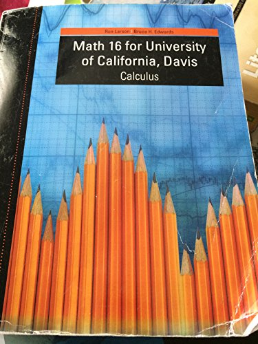 CALCULUS:MATH 16 >CUSTOM<      N/A 9781285106373 Front Cover