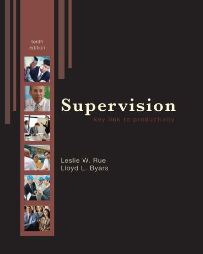 Supervision Key Link to Productivity 10th 2010 edition cover