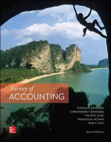 Survey of Accounting  4th 2015 9780077862374 Front Cover