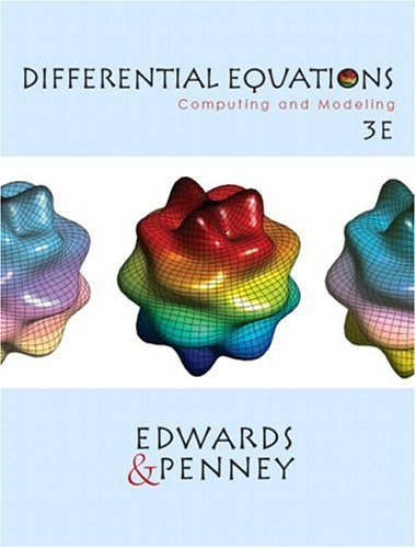Differential Equations Computing and Modeling 3rd 2004 9780130673374 Front Cover