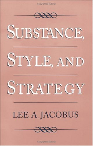Substance, Style, and Strategy   1998 edition cover