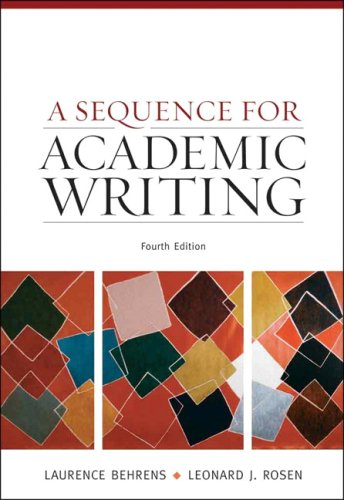 Sequence for Academic Writing  4th 2010 edition cover