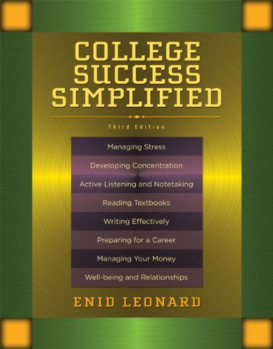 College Success Simplified  3rd 2011 edition cover