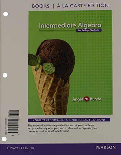Intermediate Algebra for College Students, Books a la Carte Edition Plus NEW MyMathLab with Pearson EText -- Access Card Package  9th 2015 edition cover
