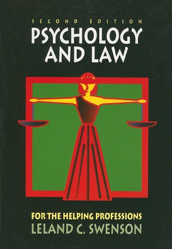 Psychology and Law for the Helping Professions  2nd 1997 9780495064374 Front Cover