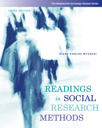 Readings in Social Research Methods  3rd 2008 (Revised) edition cover