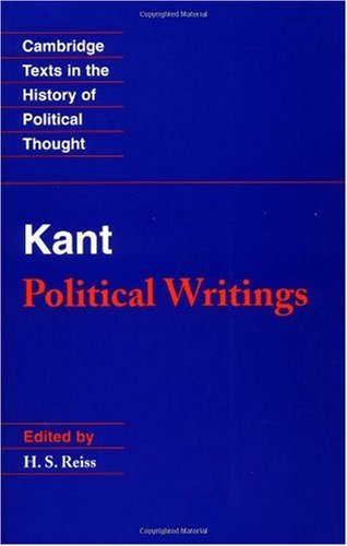Kant Political Writings 2nd 1990 (Revised) edition cover