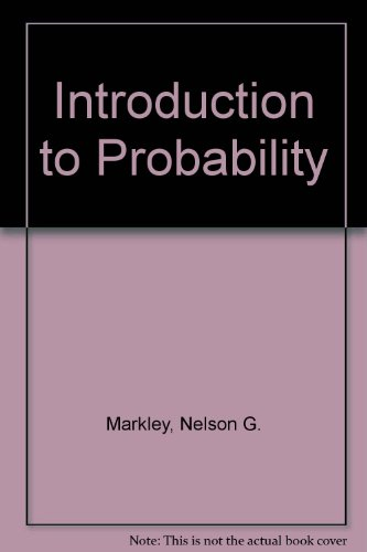 Introduction to Probability 2nd 1995 9780536587374 Front Cover