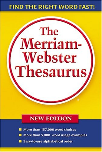 Merriam-Webster Thesaurus  5th 2005 9780877796374 Front Cover