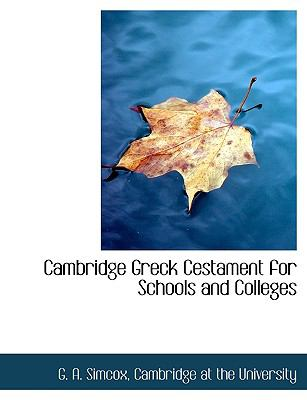 Cambridge Greck Cestament for Schools and Colleges N/A edition cover