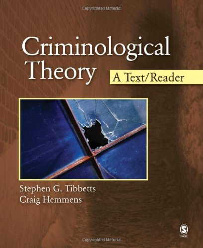 Criminological Theory A Text/Reader  2010 edition cover
