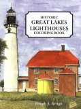 Great Lakes Lighthouse Coloring Book  N/A 9781557095374 Front Cover