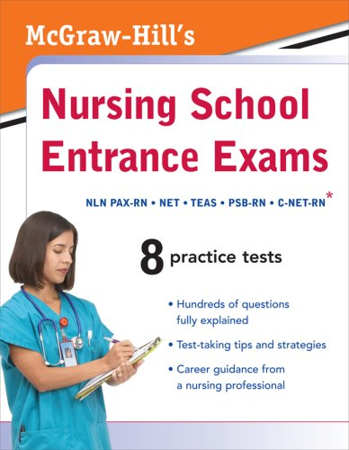 McGraw-Hill's Nursing School Entrance Exams   2009 edition cover