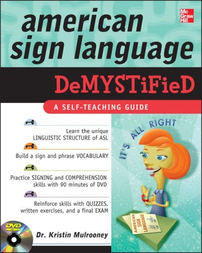 American Sign Language Demystified with DVD   2010 edition cover