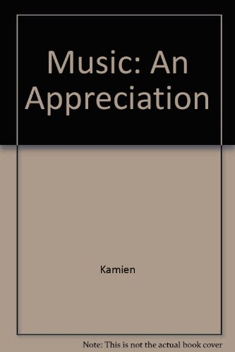 Music An Appreciation 6th 2008 9780073326375 Front Cover