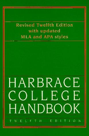 Harbrace College Handbook 12th 1994 edition cover