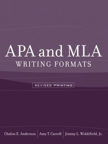 APA and MLA Writing Formats   2004 (Revised) edition cover