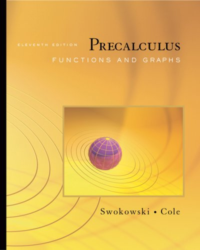 Precalculus Functions and Graphs 11th 2008 edition cover