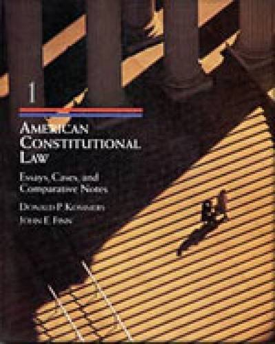 American Constitutional Law Cases, Essays, and Comparative Notes  1998 9780534539375 Front Cover