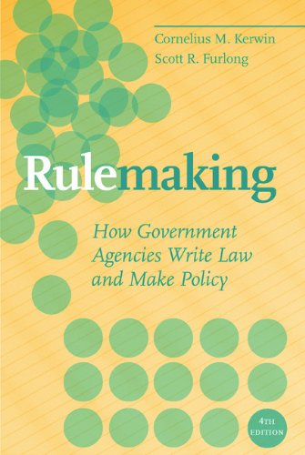 Rulemaking How Government Agencies Write Law and Make Policy 4th 2009 (Revised) edition cover